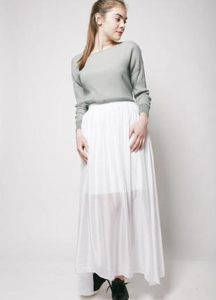 Белая юбка в пол suncoo paris размер 40 l