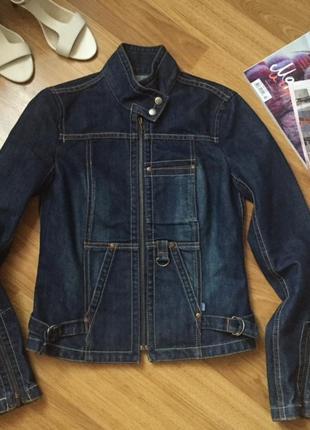 Джинсовая куртка косуха fcuk размер 8 uk наш 40-42