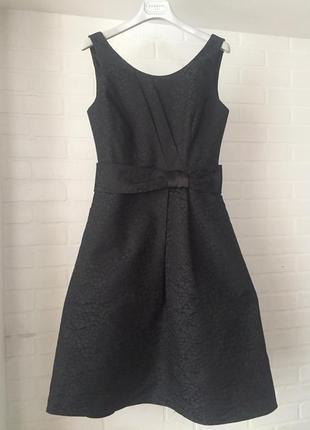 Нарядное чёрное платье laura ashley размер 10uk наш 44 оригина...