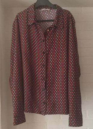 Стильная рубашка в стиле ретро mona размер 46  m-l