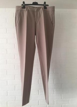 Зауженные бежевые брюки stefanel размер 14uk xl