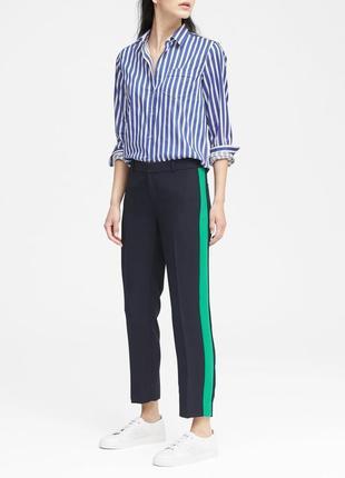 Штаны брюки с лампасами banana republic размер l