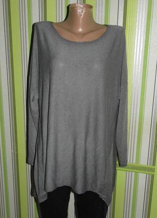Блуза с рукавом бохо стиль - италия - eu 50 - новое- этикетка!!