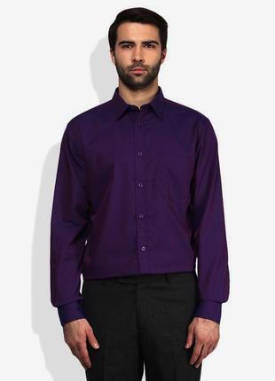 Рубашка темно-фиолетовая атласная 'geoffrey beene' 50-52р