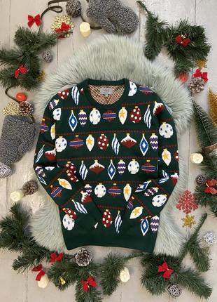 Новогодний рождественский свитер джемпер елка с гирляндой №15 ...