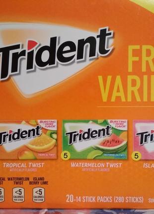 Жевательная резинка Trident без сахара
