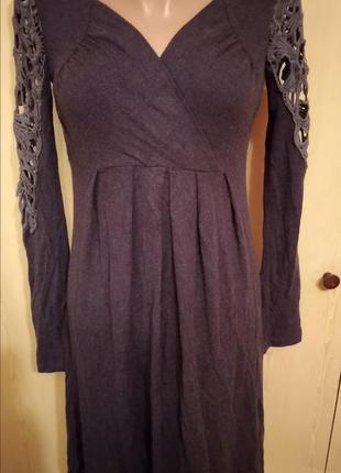 Тепленькое платье женское туника, можно беременяшке