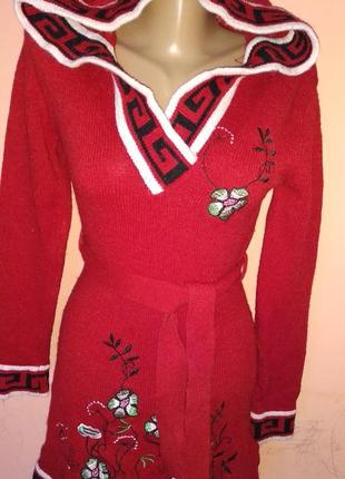 Красивое платье туника на девочку подростка вышивка