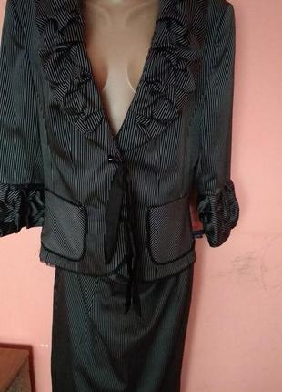 Стильный деловой женский костюм 54 размер