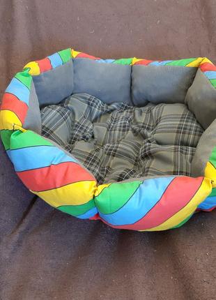 Двухсторонняя лежанка лежак для кошек и собак размер 50×50×19см