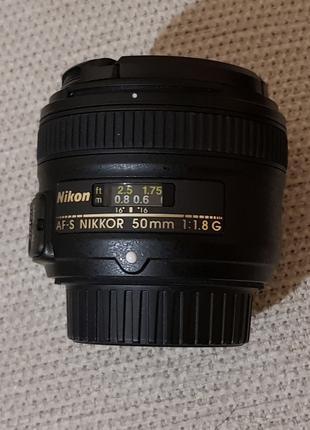 Объектив  Nikkor AF-S 50mm f/1.8G