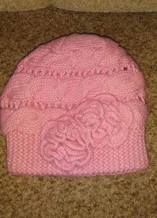 Женская польская зимняя шапка, шарф в подарок