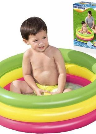 Детский надувной бассейн на 42 л. Бассейн надувной для малышей...