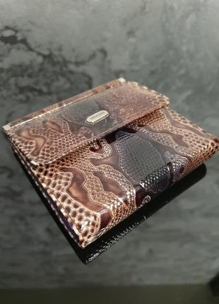 """Мега стильный женский кожаный кошелек - портмоне """"рептилия"""""""