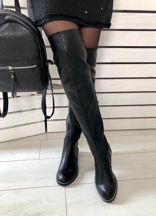 Lux обувь!❤️идеальные кожаные/замшевые зимние сапоги высокие б...
