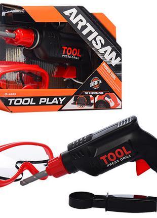 Детский набор инструментов для мальчика механическая дрель и о...