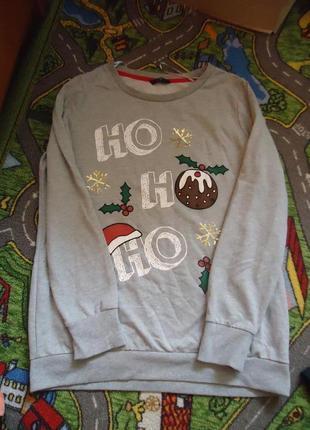 Новогодний свитер свитшот