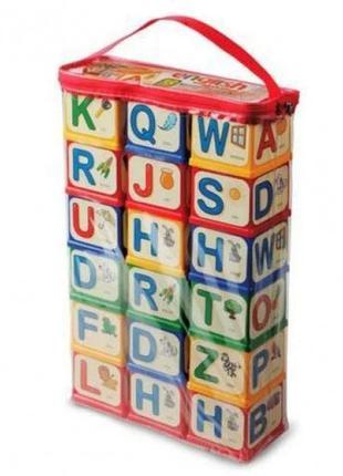 """Пластиковые кубики """"Английский алфавит"""", 18 кубиков, 40x8x24 см"""