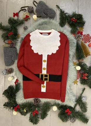 Новогодний рождественский свитер джемпер санта клаус №31 tu