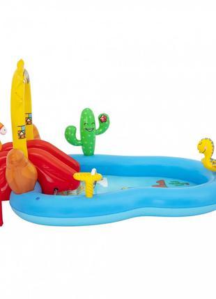 """Надувной игровой центр Bestway с горкой и бассейном детский """"Д..."""
