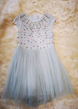 Нежное нарядное праздничное платье next