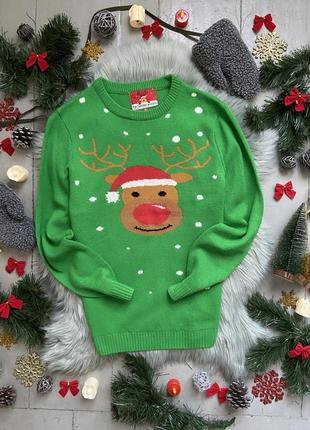 Новогодний рождественский свитер джемпер олень №33