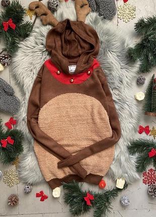 Новогодний рождественский свитер джемпер олень №29 cedarwood s...