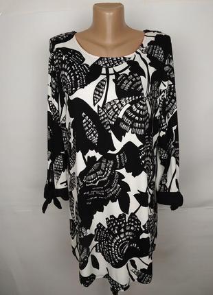 Блуза туника новая эластичное красивая в цветы marks&spencer u...