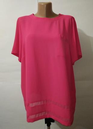 Шифоновая блуза красивая нежно розовая большой размер marks&sp...