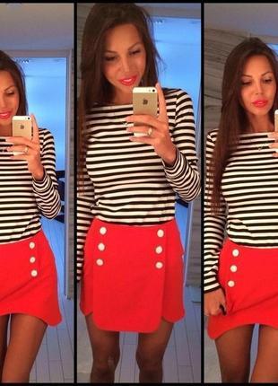 Яркая юбка из трикотажа