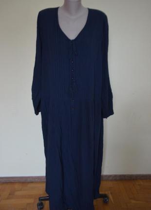 Очень шикарное модное брендовое платье большого 60 размера дли...