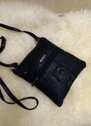 Компактная кожаная сумка на плечо lorenz