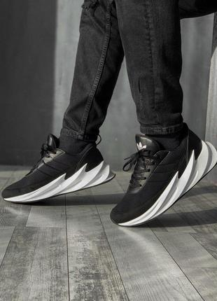 Спортивные мужские кроссовки adidas в черном цвете /весна/лето...