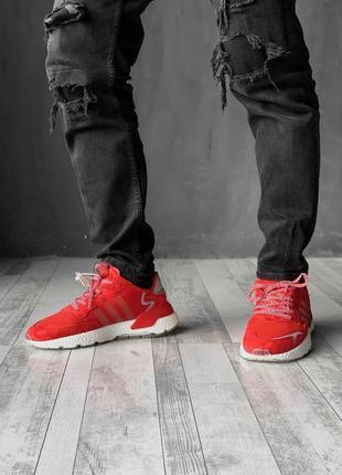 Спортивные мужские кроссовки adidas в красном цвете /весна/лет...