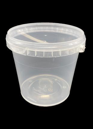 Набор пластиковых герметичных пищевых ведер Vital Plast 1 л 15 шт