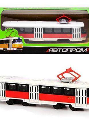 """Трамвай из серии """"Автопром"""", красный 6411D"""