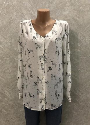 Блуза в принт собачки