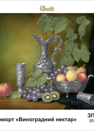 """Схема для полной вышивки бисером """"Виноградный нектар"""""""