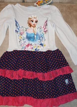 Платье с эльзой холодное серце tm nova
