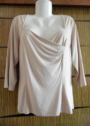 Блуза трикотаж, новая marks&spencer размер 20 – идет на 54-56.