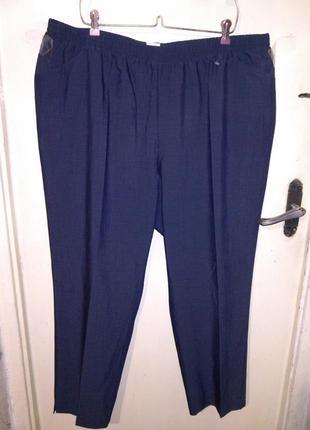 Стрейч,классные,зауженные брюки с карманами,на резинке,больш.5...