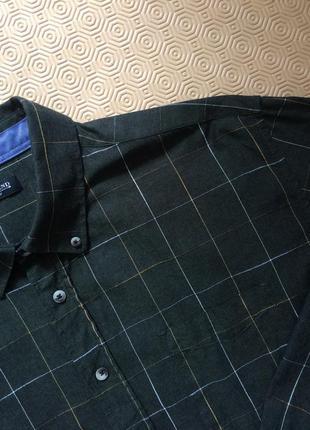 Зелёная хлопковая рубашка в клетку датского бренда preend