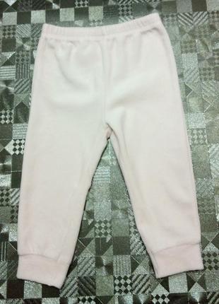 Велюровые штаны george нежно-розового цвета на девчушку 12-18мес