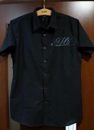 Фирменная мужская рубашка smog new yorker германия, приталенная