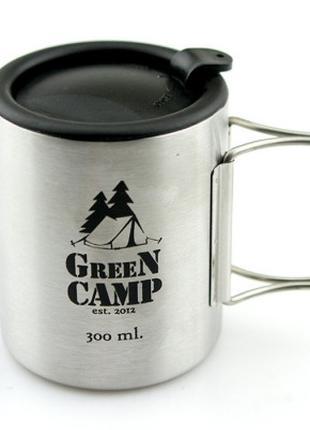 Термокружка World Sport GreenCamp с крышкой 300 мл 2 ручки SKL...