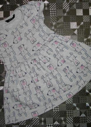 Милое хлопковое платье с забавными зайками george 12-18мес