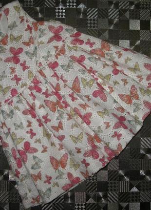 Красивейшее пышное выбитое платье с бабочками 100 % cotton от ...