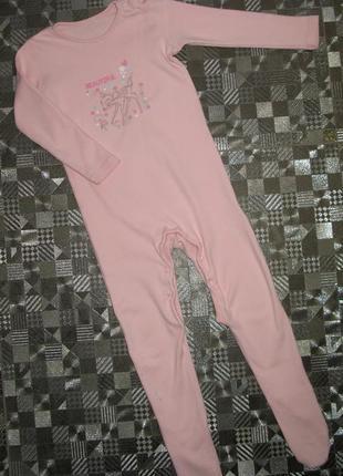 Милая пижама, слип, человечек disney 18-24мес