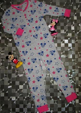 Хлопковый слип (пижама. человечек, поддева) disney minnie mous...