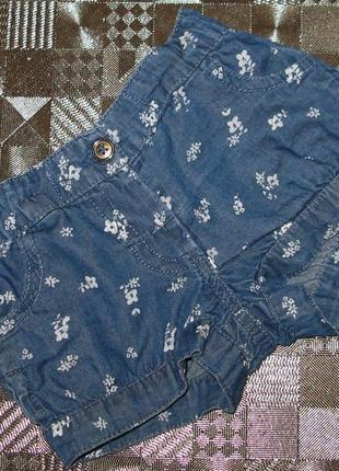 Легкие джинсовые шорты primark на маленькую модницу